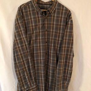 Basic Editions Brown Men's Long Sleeve Shirt 3XL